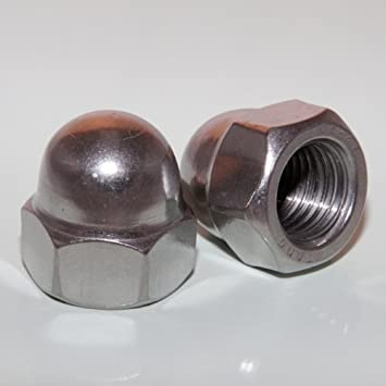 - Sechskant-Hutmutter V2A Hutmutter M10 DIN 1587 hohe Form 1 St/ück Edelstahl A2