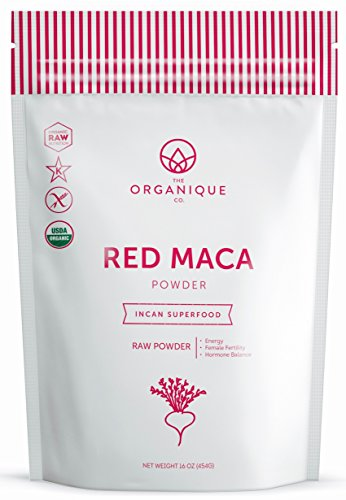 The Organique Co. Red Maca Root Powder - 16 Ounce - Certified Organic, Raw, Non-GMO Supplement - Energy, Female Fertility, Hormone Balance - Sustainably Sourced from Peru (Best Red Maca Powder)