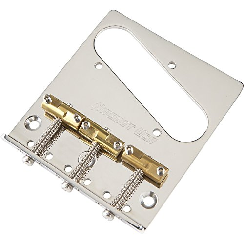 Hipshot Stainless Steel Tele Bridge 3 Hole Mount with Compensated Saddles Chrome