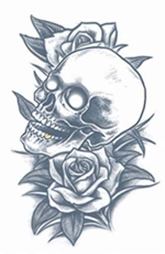 Tinsley Transfers Skull & Roses Prison Temporary Tattoo TT-PR314 -