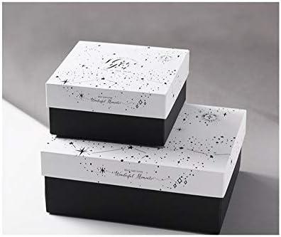 Caja de regalo en blanco y negro, caja vacía creativa de alta gama ...