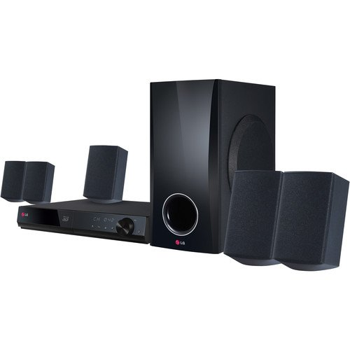 LG 5.1 Channel 500 Watt 3D Blu-ray Surround Sound Home Theater System by LG