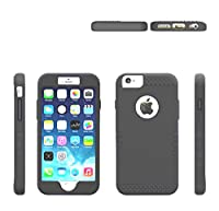 "iPhone 6 Plus Case, Osurce Full Protection Heavy Duty Hybrid Soft Silicone Rugged Armor Hard Inner Case Cover for Apple iPhone 6 Plus"" - Shock Absorbing"