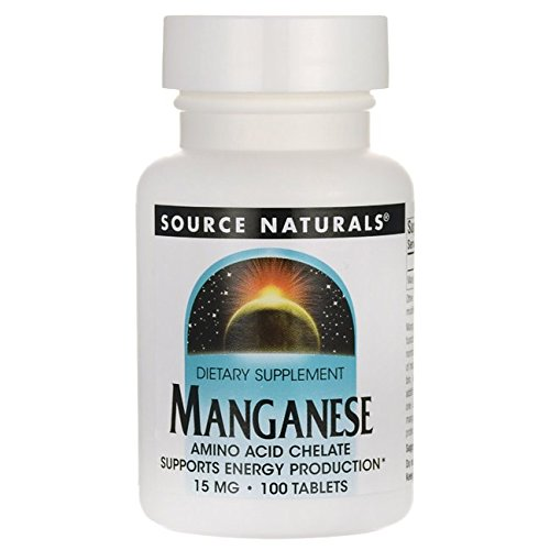 Manganese Chelate Source Naturals, Inc. 100 Tabs