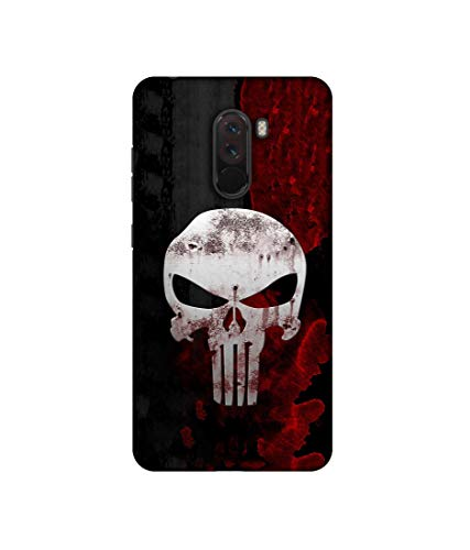 Casotec Punisher Skull Design 3D Printed Hard Back Case Cover for Poco F1