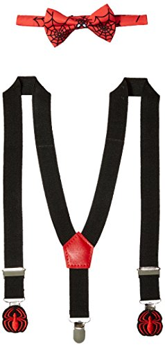 Marvel Baby Boys Avengers Bowtie/Suspenders/Stickers Set, Spiderman, Infant -