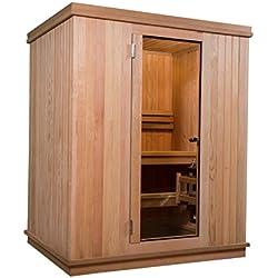 Almost Heaven Saunas Quality Outdoor & Indoor Sauna Kits (Madison 2-3 Person Indoor Sauna, Nordic Spruce)