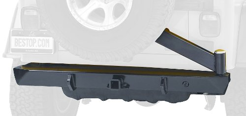 - Bestop 44931-01 HighRock 4x4 Matte Black Rear Bumper with Integrated Tire Carrier for 1997-2006 Wrangler including TJD
