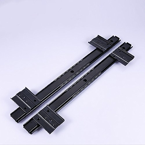 14 inch Desk Extension Computer Desk Keyboard Drawer Tray Slide Rail Rack Cupboard Wardrobe Drawer Slide Sliding Hardware Replace (Black) by OXSNice (Image #2)