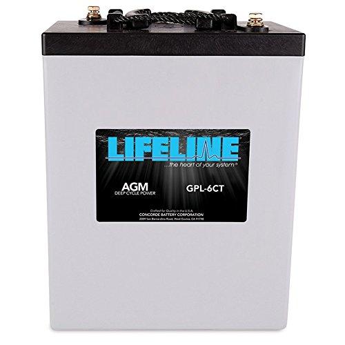 Agm Lifeline Batteries - Lifeline GPL-6CT - 6 volt - 300AH Deep Cycle Battery