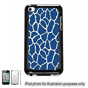 Blue Giraffe Animal Print Pattern Apple iPod 4 Touch Hard Case Cover Shell Black 4th Generation