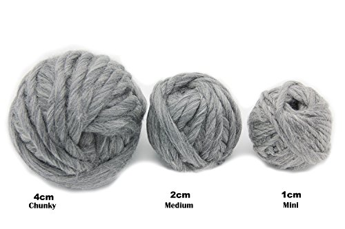 Merino Wool Super Chunky Yarn- Bulky Roving Yarn for Finger  Knitting,Crocheting Felting,Making Rugs Blanket and Crafts by FLORAKNIT  (Aquarius,