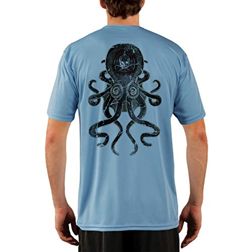 (SAND.SALT.SURF.SUN. Vintage Kraken Men's UPF 50+ Short Sleeve T-Shirt XX-Large Columbia Blue)