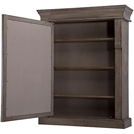 Naples 25 In W X 31 In H X 8 In D Framed Wood Surface Mount Bathroom Medicine Cabinet In Distressed Grey