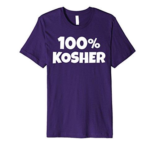 Mens 100% KOSHER Funny Joke Halloween Jewish Hebrew T-shirt Medium Purple