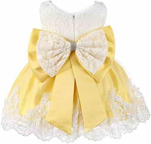 GorNorriss Baby Dress Toddler Kids Girl Long Sleeve Print Ruffles Party Princess Dresses