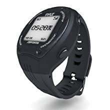 Pyle Extreme GPS Sports Watch Workout Trainer - ANT+ Heart Rate Monitor Compatible - For Tracking Running, Biking, Hiking Outdoors - Export Data to Map my Run and Strava - Displays Pace, Speed and Distance (Black)