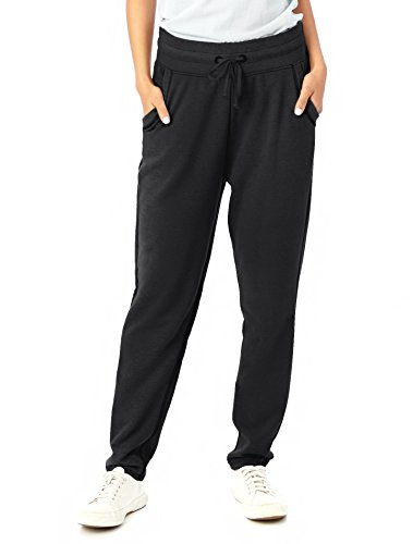 Plus French Terry Pants (Alternative Women's Vintage French Terry Relay Race Pant, Black, S)