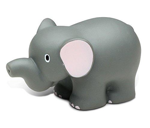 Puzzled Baby Bath Toy Squirt - Elephant Bath Buddy Squirter Grey 3 Inch - Water Float Fun - Bathtub, Pool, Beach - Educational Pretend Play for Infant, Toddler, Kids, Boys, Girls 2721]()