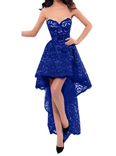 mit Dunkel Abendkleider Linie Abschlussballkleider Damen Rock A Promkleider Sexy Blau Hi Charmant Royal Partykleider lo Schleppe SxPw1gwOq