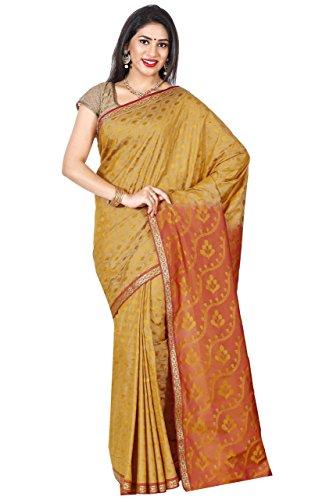 arars Women's Mysore Silk Saree Kanchipuram Style Free Size Mustard