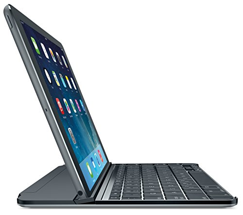 Logitech Ultrathin Magnetic Clip-On Keyboard Cover for iPad Air, Space Gray