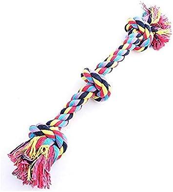 Vivifying mascota masticar juguete de cuerda durable cuerda de algod/ón trenzado juguete para mascotas perro gato cachorro Dientes de limpieza