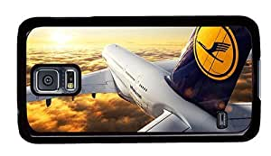 Hipster the best Samsung Galaxy S5 Case a380 lufthansa PC Black for Samsung S5
