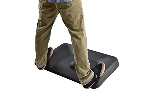 ACTIVE STANDING DESK MAT not flat ergonomic anti fatigue mat for office large contoured thick cushioned comfort floor massage mat for sit stand up desks industrial warehouse varied terrain (Standing Wall Desk)