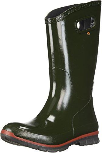 Image of Bogs Women's Berkley Solid Rain Boot, Dark Green, 7 M US