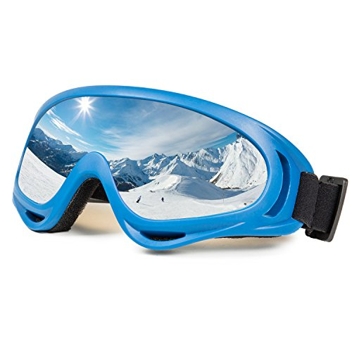 Ski Goggles Snowboard Adjustable UV Protective Motorcycle Goggles Outdoor Tactical Glasses Dust-proof Protective Combat Goggles Military Sunglasses Outdoor Activities Protective Glasses Blue Goggle