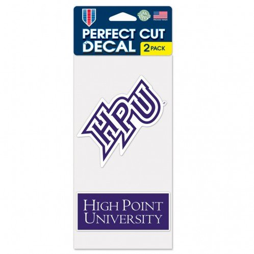 High Point University High Point Panthers Perfect Cut Die Cut Decal   Two 4 X4  Decals