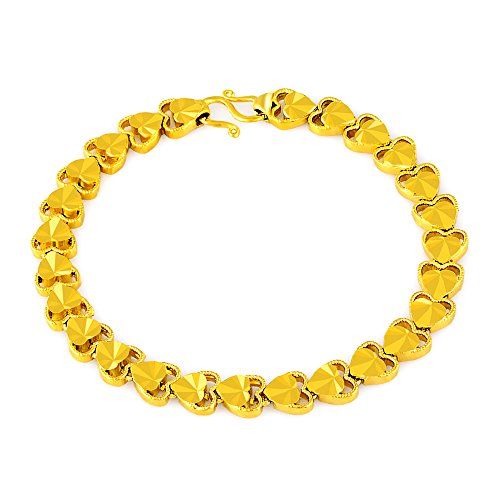 YLR 24K Gold Plated Platinum Link Bracelet,This Fashion Women Jewelry is suitable for any occasion (24k Bracelet)