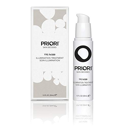 Priori Skincare Natural Turmeric Based Illumination Treatment Brightening Fragrance Free Face Serum Antioxidants Dark Spots Corrector Clean Beauty Dermatologist Tested 1 fl oz