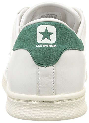 Converse Pro Leather LP Ox Leather Sneaker,Unisex Adulto White Dust/Gloom Green