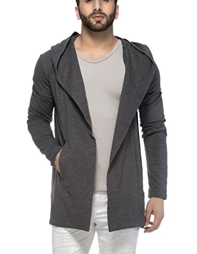 Tinted Mens Cotton Blend Hooded Cardigan Anthera X Large