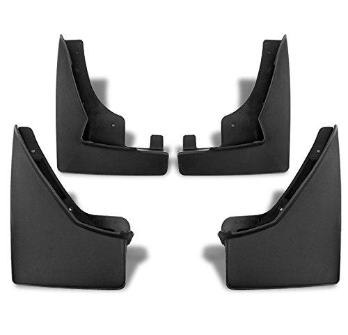 zmautoparts-15-cadillac-srx-mud-flaps-splash-guards-mudguard-black-4pcs-front-rear-combo