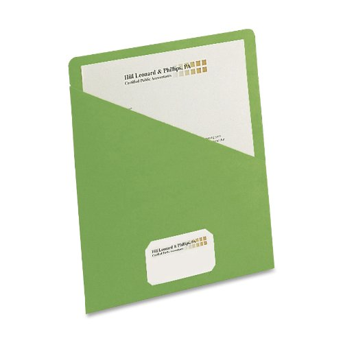 (Smead Organized Up Slash File Jacket, Letter Size, Green, 25 per Pack (75432))