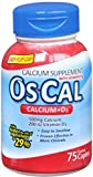 Os-Cal 500+D Caplets 75 Caplets (Pack of 6)