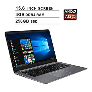 Asus VivoBook 15 15.6-Inch FHD 1080P Business Laptop, AMD 4 Core A12-9720P up to 3.6 GHz, AMD Radeon R7, 4GB DDR4 RAM, 256GB SSD, USB-C, HDMI, WiFi, Bluetooth, FP Reader, Win 10