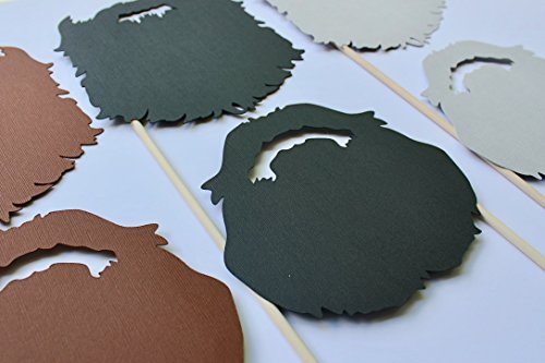 Dynasty Beard Props for Photo Booth by Paper and Pancakes 6 Pc Set -