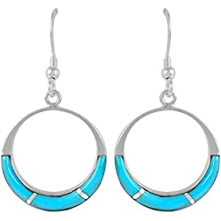 Turquoise Earrings 925 Sterling Silver & Genuine Turquoise