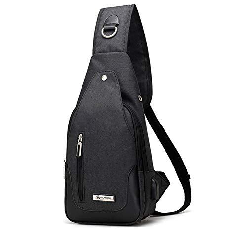 Women Black Port Wind crossbody For Sling amp; Daypack shoulder Charging Usb Goal Bag Chest Backpack Men Bags With TqCBTa