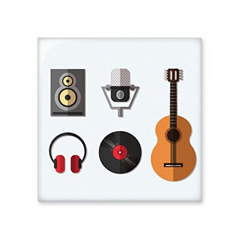 Guitar Headset CD Microphone Music Pattern Ceramic Bisque Tiles Bathroom Decor Kitchen Ceramic Tiles Wall Tiles (Cd Wall Tiles)