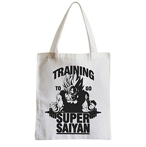 Große Tasche Sack Einkaufsbummel Strand Schüler zu gehen trainin Super-Sayan Goku Dragon Ball Z manga sangoku