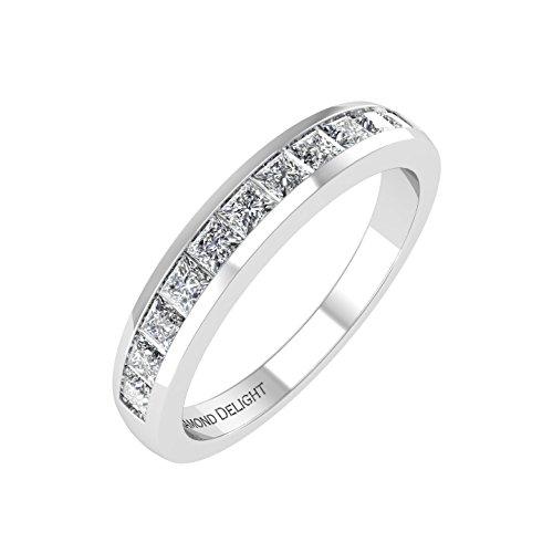 Princess Cut Diamond Band (IGI Certified 14k White Gold Princess-cut Diamond Wedding/anniversary Band (0.53 Carat))
