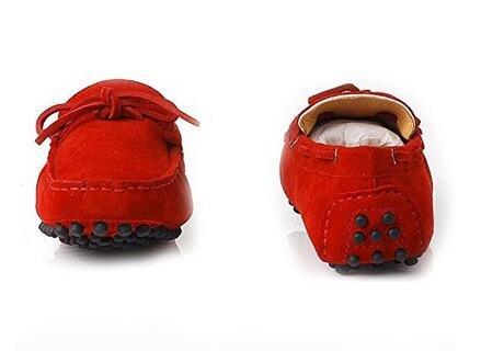 Happyshop (tm) In Pelle Scamosciata Uomo Mocassino Comfort Slip 0n Nappa Mocassino Driving Shoes Rosso