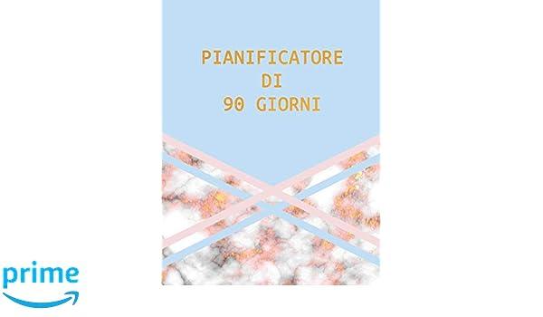 Pianificatore di 90 Giorni: Marmo Blu Rosa e Oro | Agenda di ...