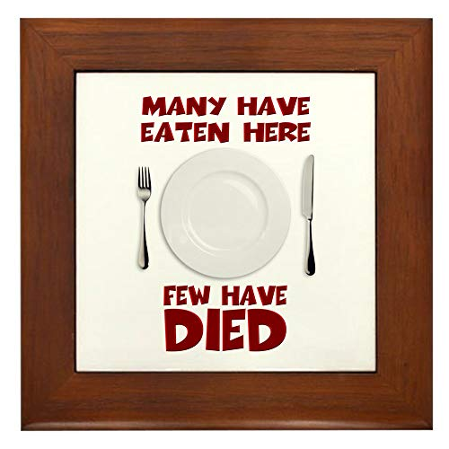 CafePress Fewhavedied Framed Tile, Decorative Tile Wall Hanging