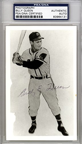 Billy Queen Autographed 3.5x5.5 Photo Milwaukee Braves PSA/DNA ()